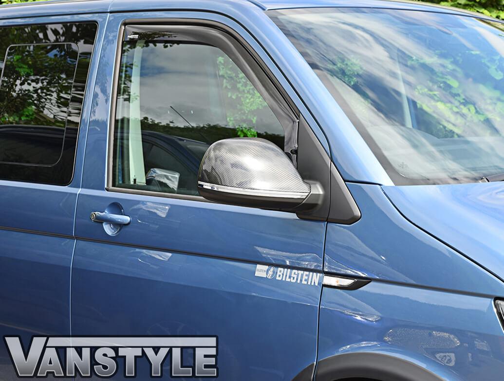 VW T5 T6 Amarok Stainless Steel Polished Lower Mirror Strips