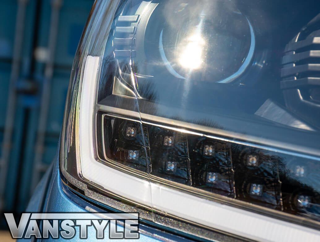 Black Inner LED DRL 2019 Performance Headlights - VW T6 2015 - Vanstyle
