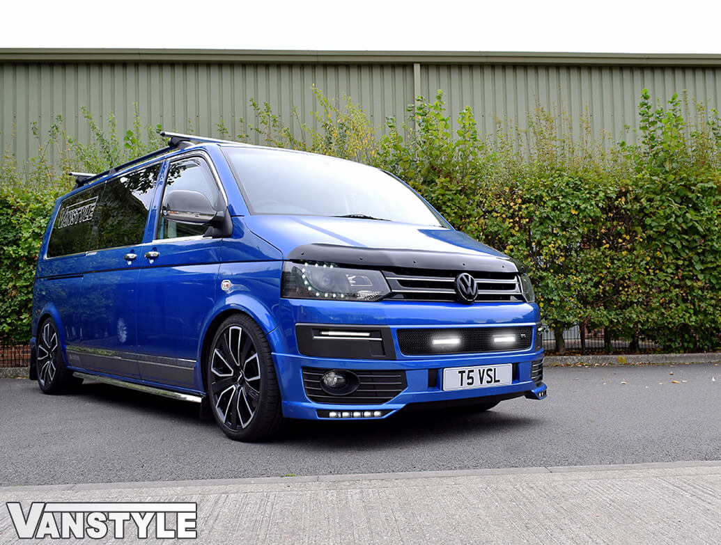 DRL Vanstyle Sport Black Mesh Grille With DRL Lamps VW T5