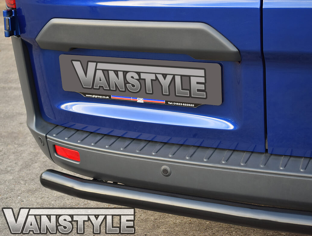 60mm Black Steel Rear Bumper Protection Bar Transit Custom
