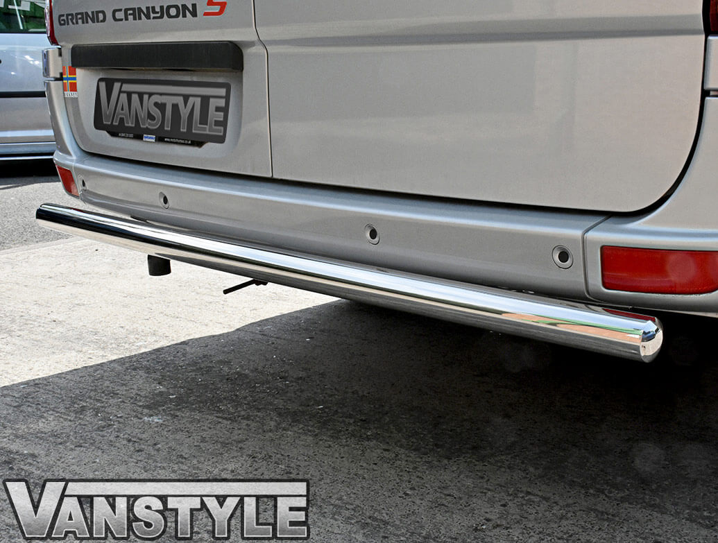 60mm Polished Stainless Steel Rear Bar - Crafter/Sprinter/Vito
