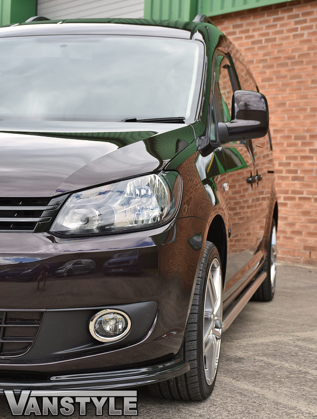 Polished Chrome 50mm Sportline Style Side Bars - Caddy LWB 04>