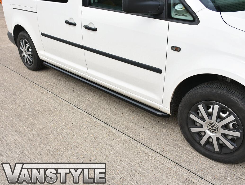 Sidebars 50mm Black Steel VW Caddy Maxi LWB 04>15 & 15>