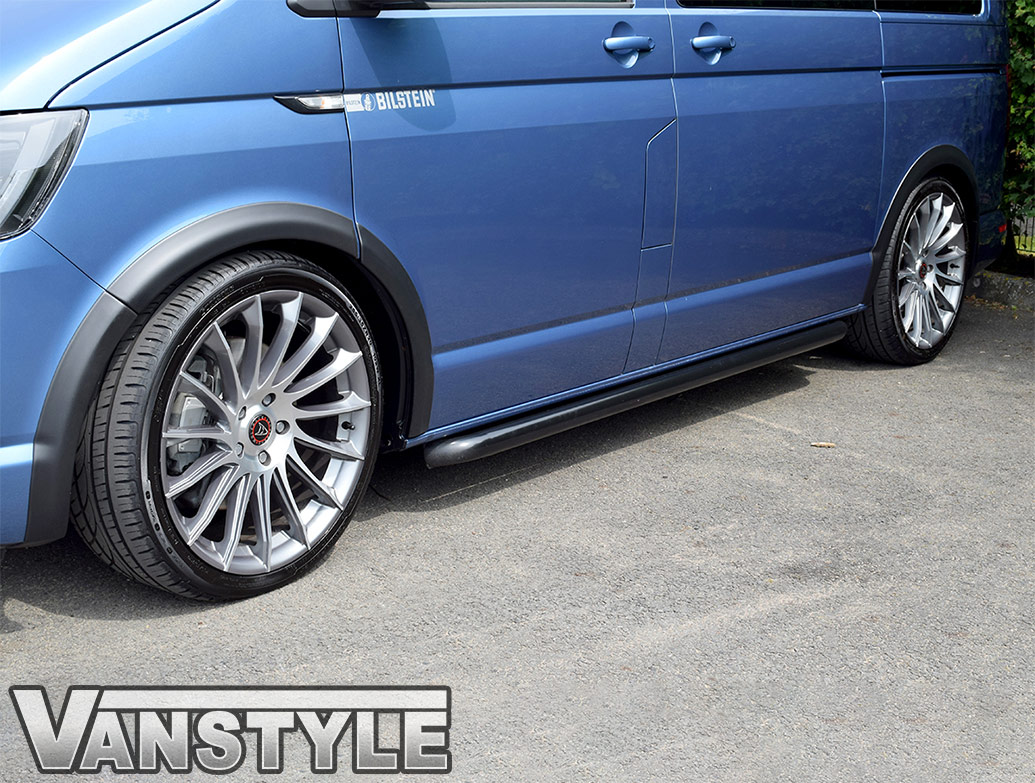 ABS Textured Black Wide Wheel Arch Covers - VW T6 2015 On