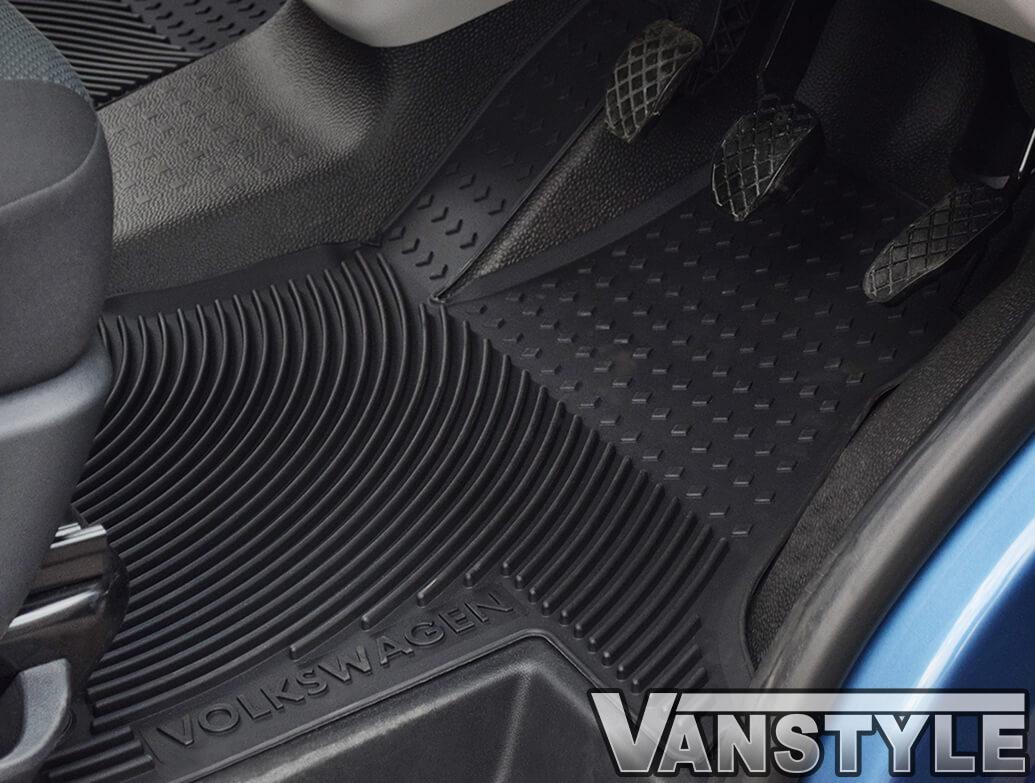 VW TOURAN ALL MODELS 5 Piece Heavy Duty Rubber MPV Taxi Style Floor Mat Set