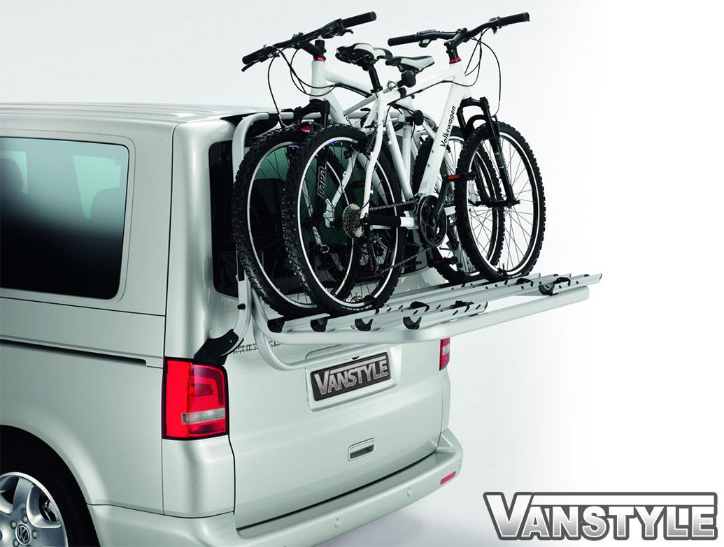 Genuine VW T5 - 4 Bike Bicycle Rack for Tailgate Models + Struts