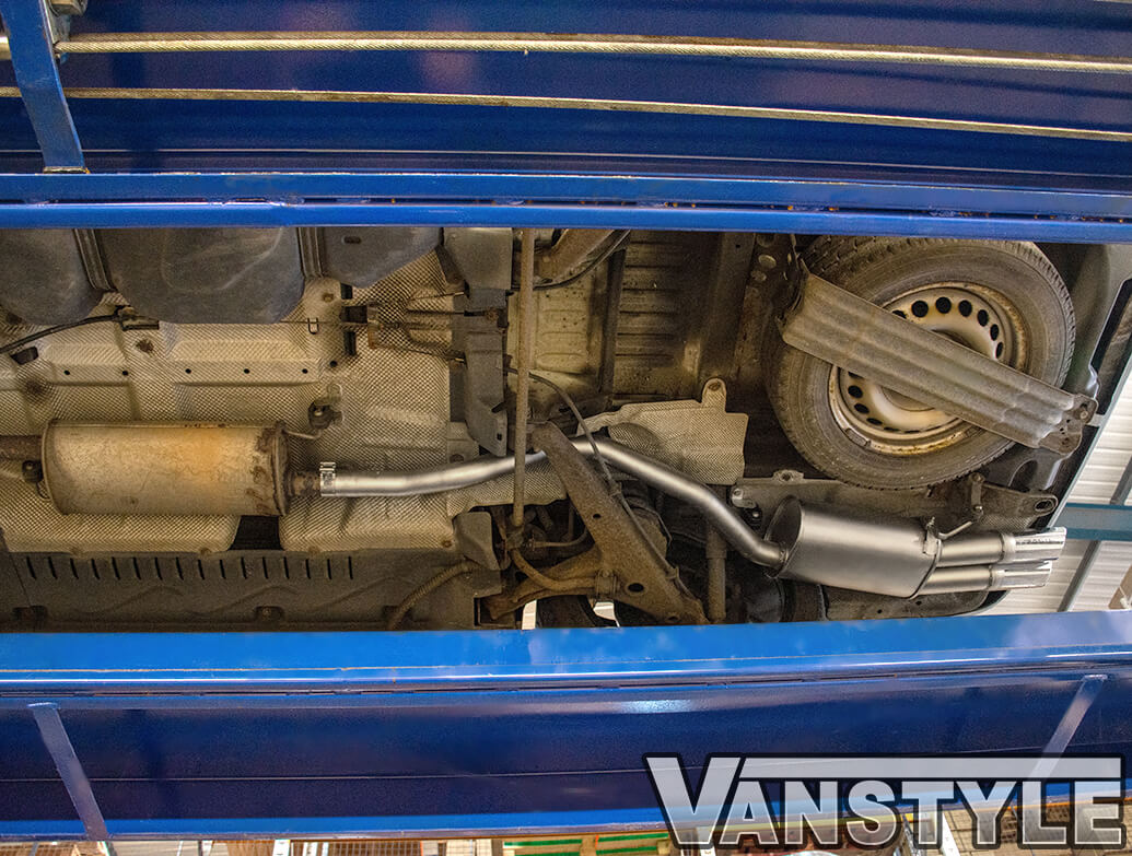Stainless Steel Twin Pipe Remus Exhaust - VW T5 2003>2015