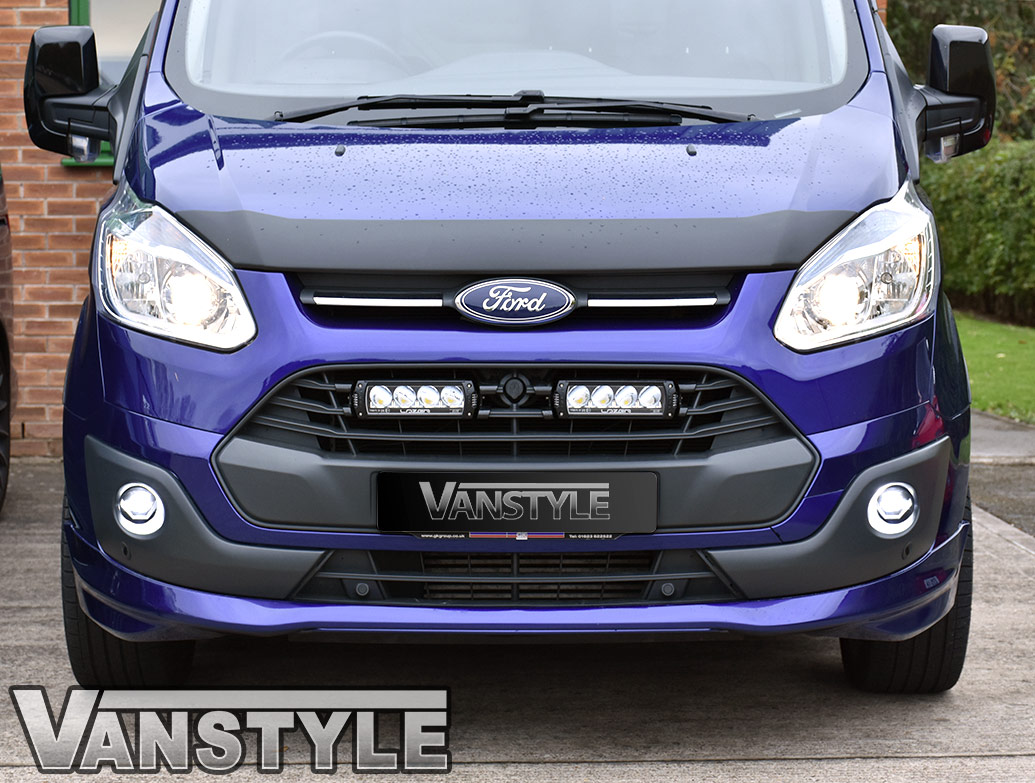 PU Lower Sport Style Bumper Splitter - Ford Transit Custom 12-18