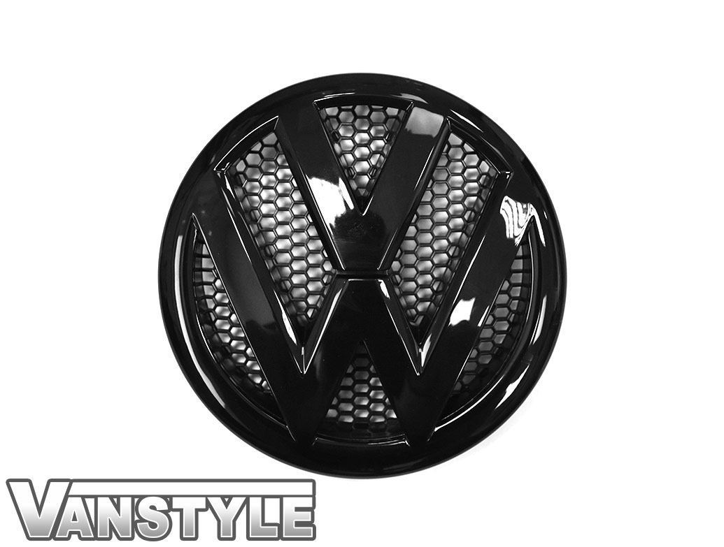 VW Replacement Front Gloss Black Badge - VW T5 10-15