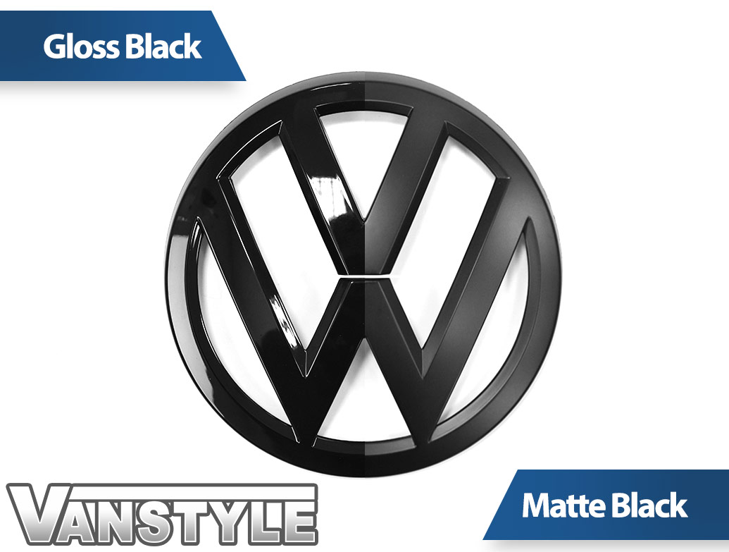VW Replacement Front Matte Black Badge - VW Crafter 2017>