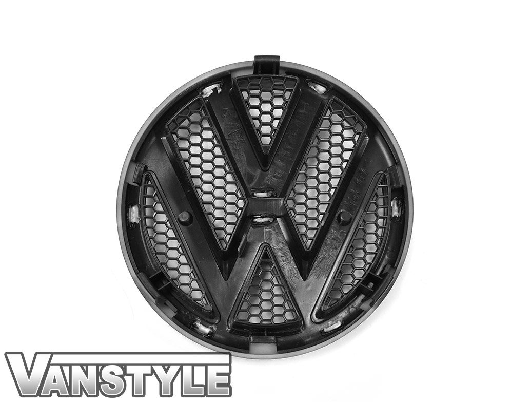 VW Replacement Front & Rear Matte Black Badge Set - VW T5 10-15