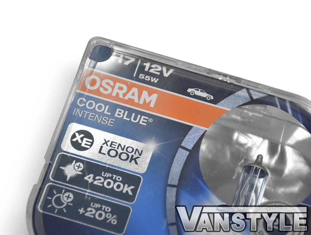 Black LED DRL Headlights + Beam Conversion Kit - VW T6 2015>