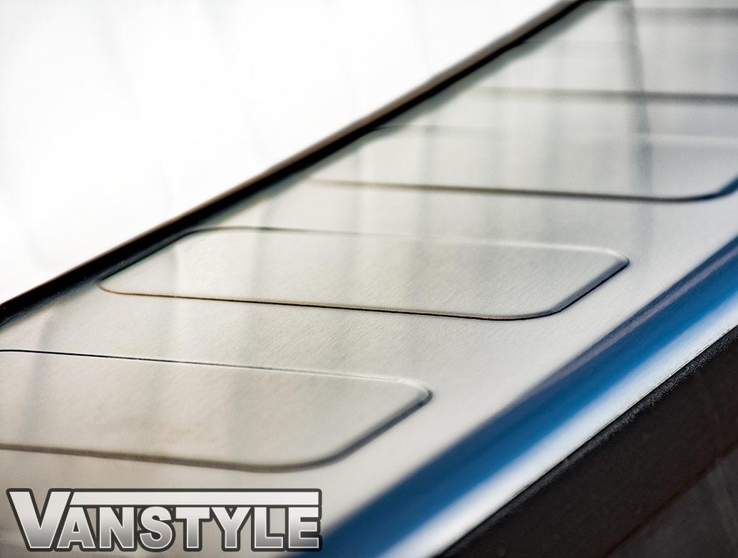 Brushed Stainless Steel Rear Bumper Protector - Vivaro L2 19>