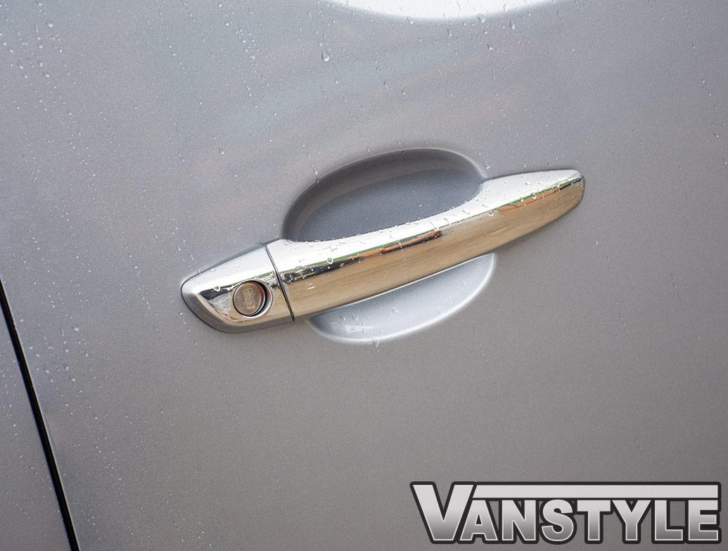 Polished Chrome Door Handle Covers - Vauxhall Vivaro 2019>