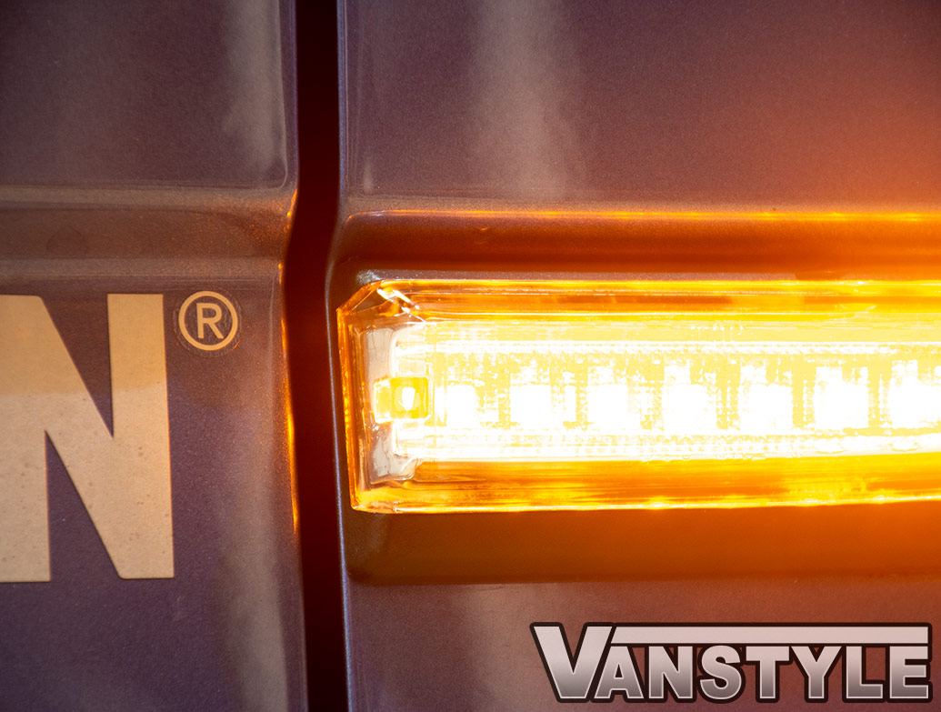 LED Non-Sequential Side Repeater Pair - Clear - VW T6 15>