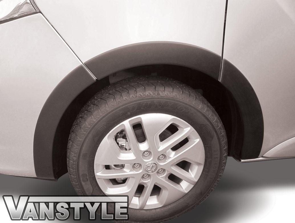 Black ABS Outer Wide Wheel Arch Cover Set - LWB Vivaro 14>19