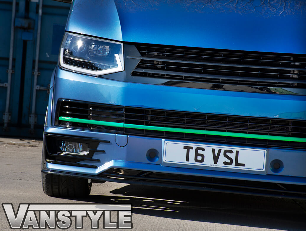 Gloss Black ABS Badgeless Grille - VW T6 2015>