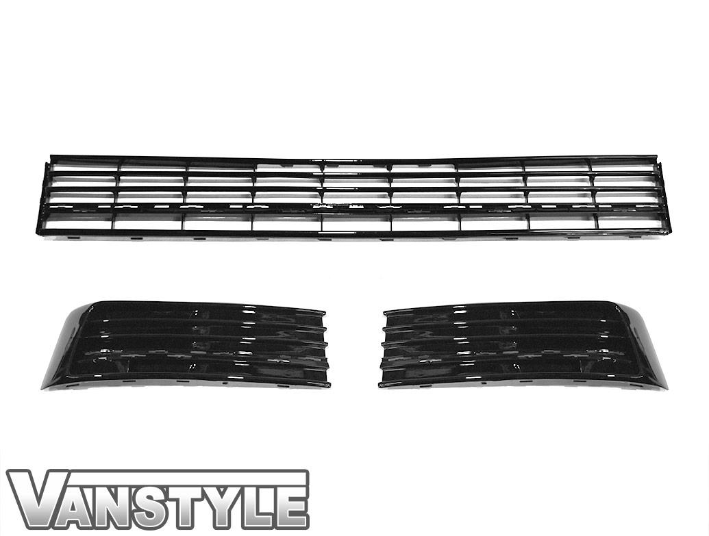Gloss Black Lower 3 Piece Radiator Grille - VW T6 2015>