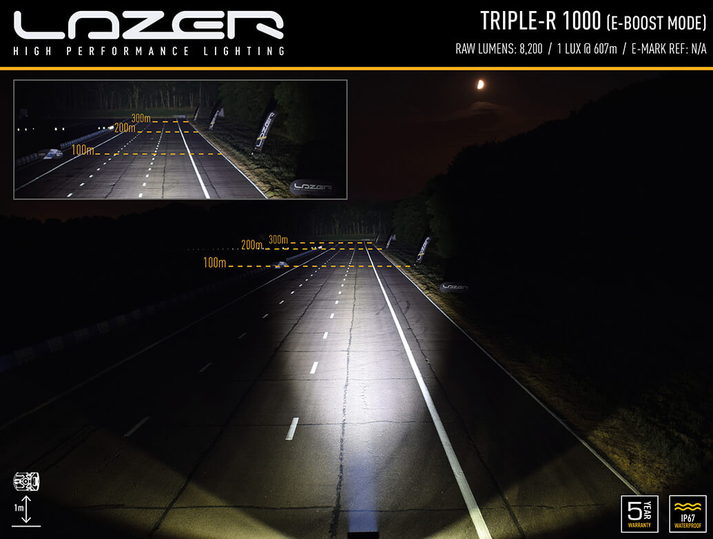 Lazer Light Triple-R 1000 Standard Black Individual Light Kit