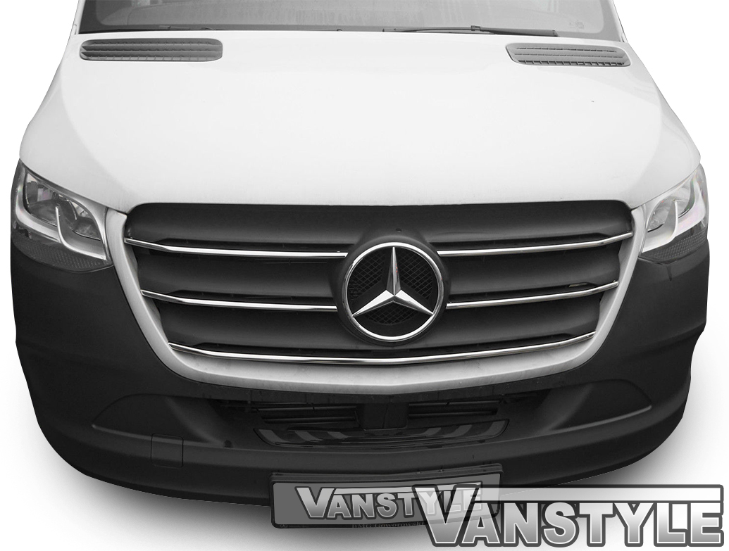 Polished Stainless Steel Grille Trim - Mercedes Sprinter 18>