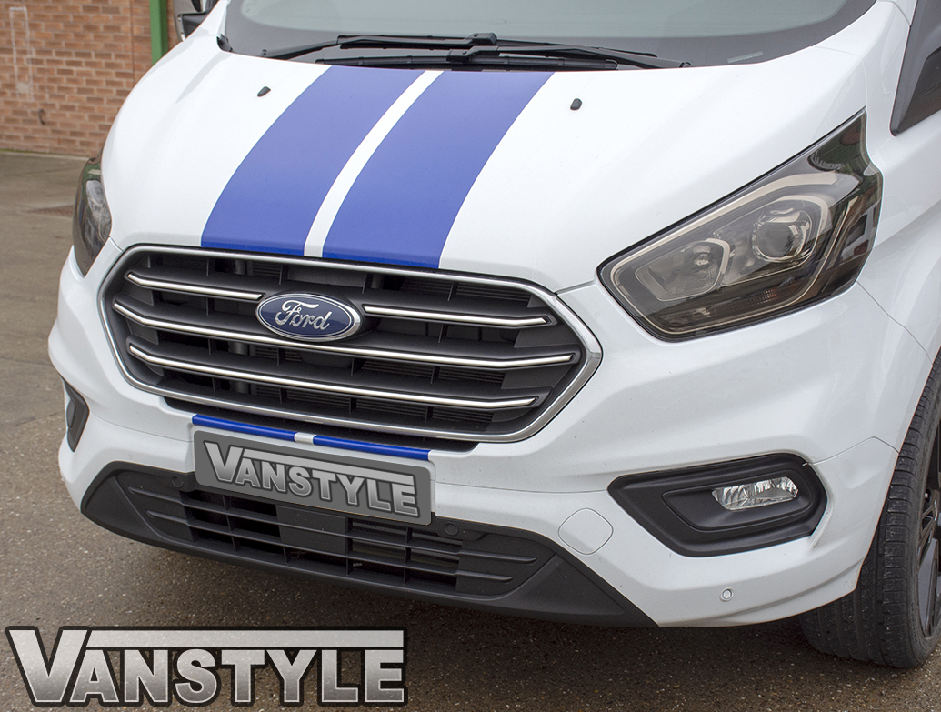 Polished Stainless Steel Grille Trim - Ford Transit Custom 18>