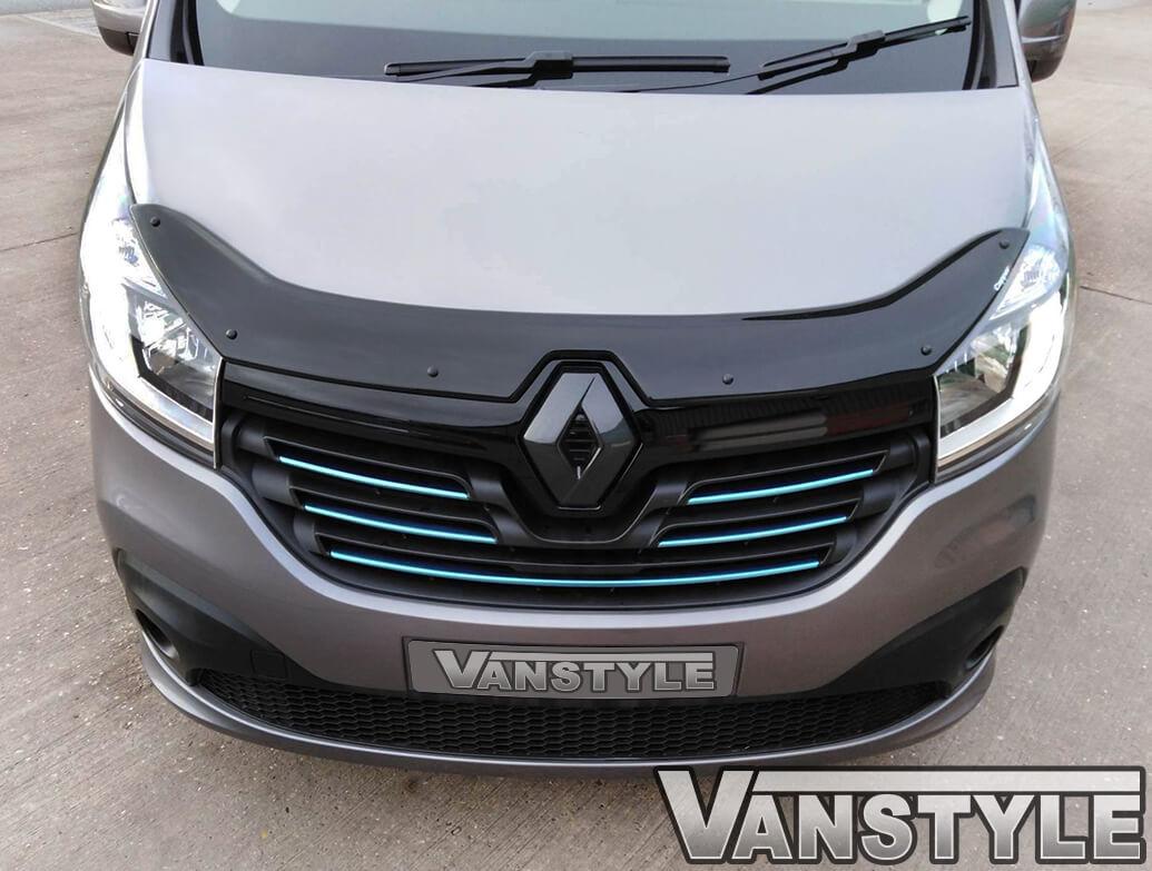 Black Acrylic Bonnet Wind Deflector - Renault Trafic X82 2014>