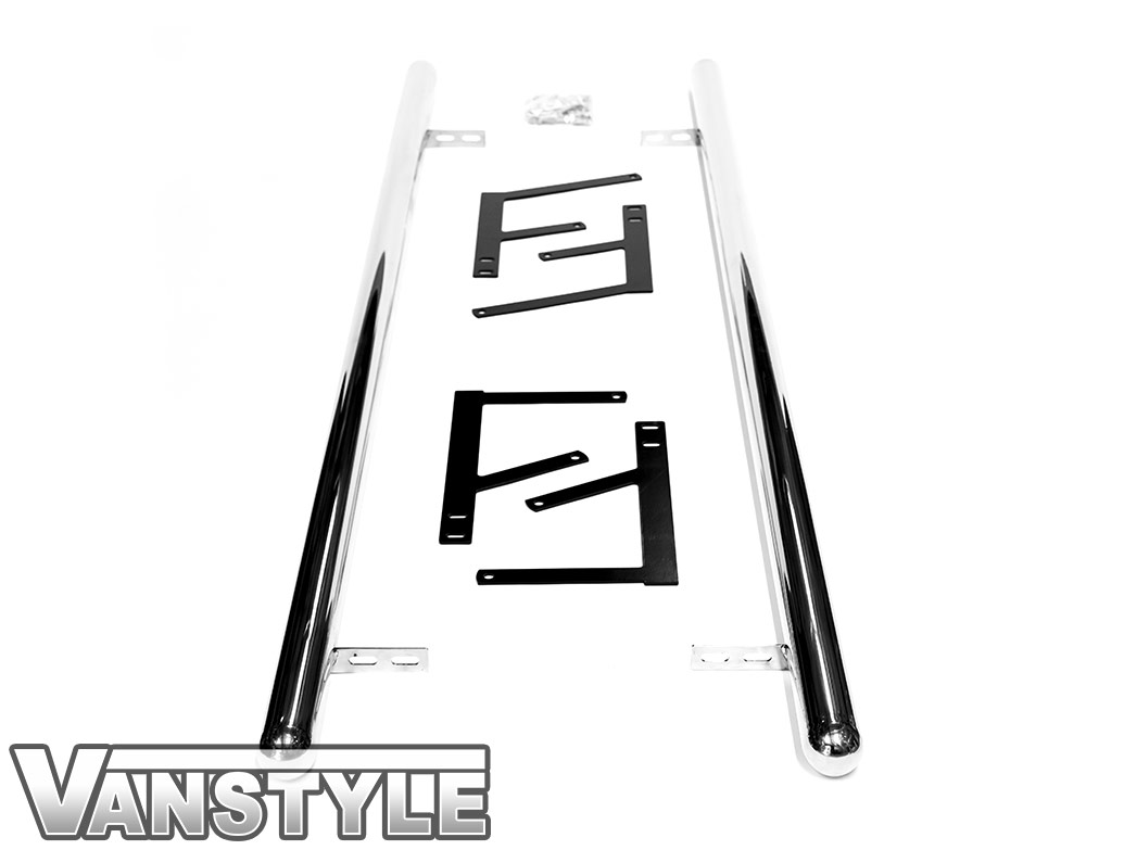 60mm Polished Chrome Steel Side Bars - Dispatch/Expert/Proace