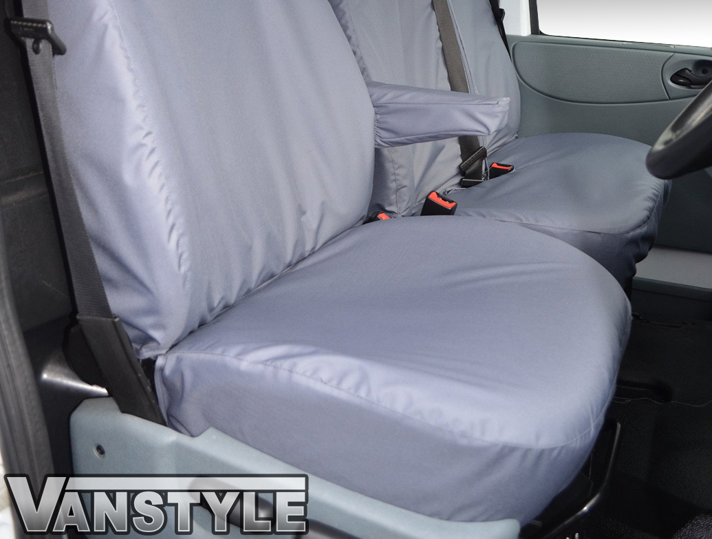 100% Waterproof Grey Tailored Seat Covers - Ford Transit 00>13