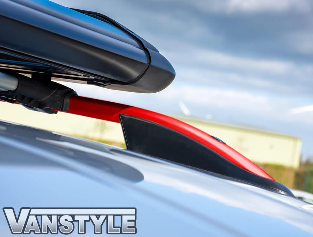 Red Edition Aluminium Styling Roof Rail Bars - VW Caddy Mk3/Mk4