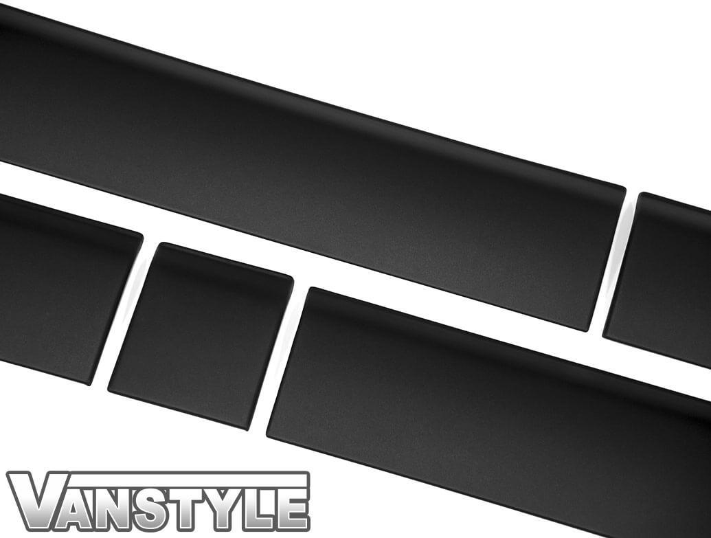 ABS Textured Black Lower Door Body Mouldings LWB - VW T5 T6 03>