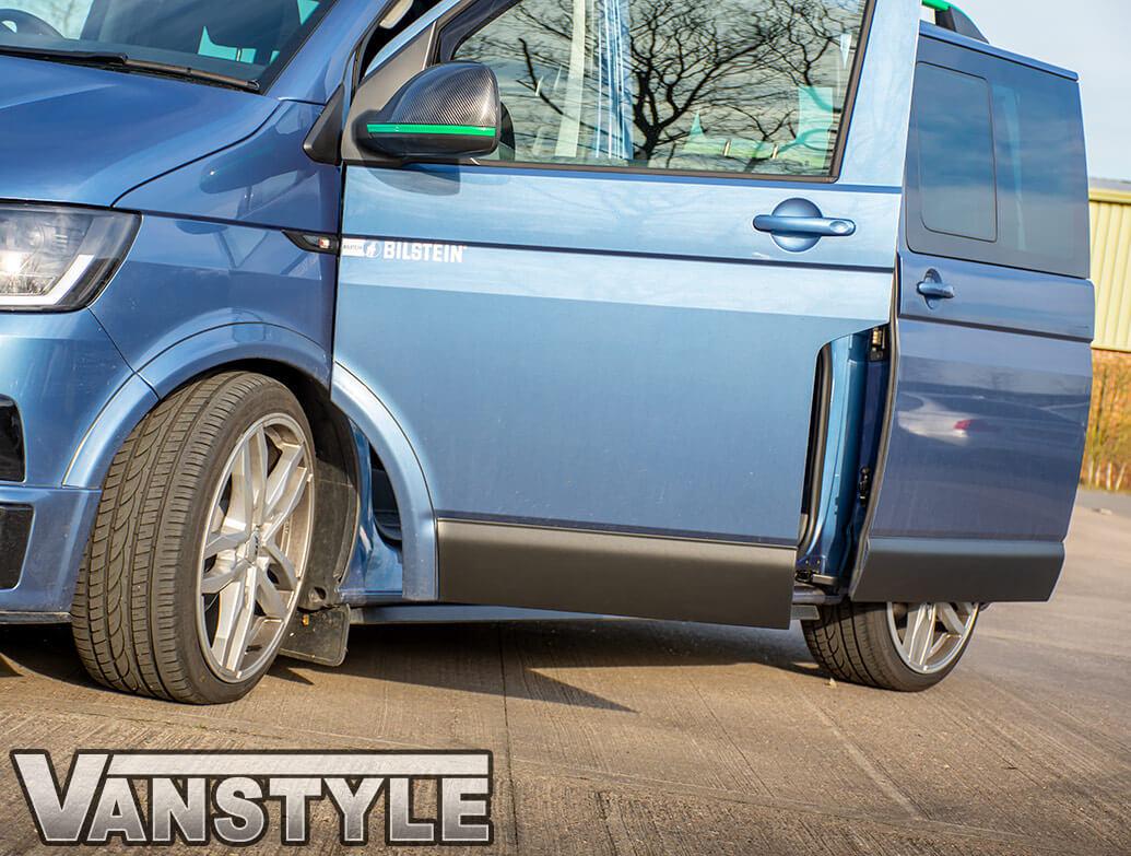 Textured Black ABS Lower Door Body Mouldings SWB - VW T5/T6 03>
