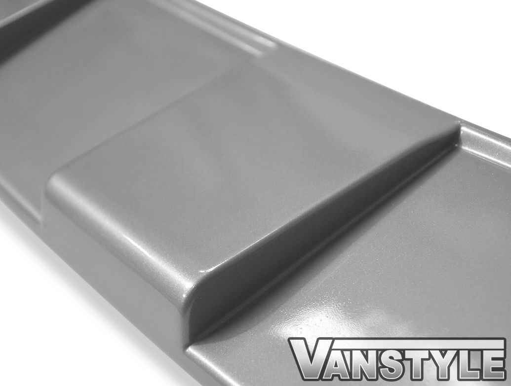 Satin Silver ABS Front Bumper Protector Skid Plate - VW T6 15>