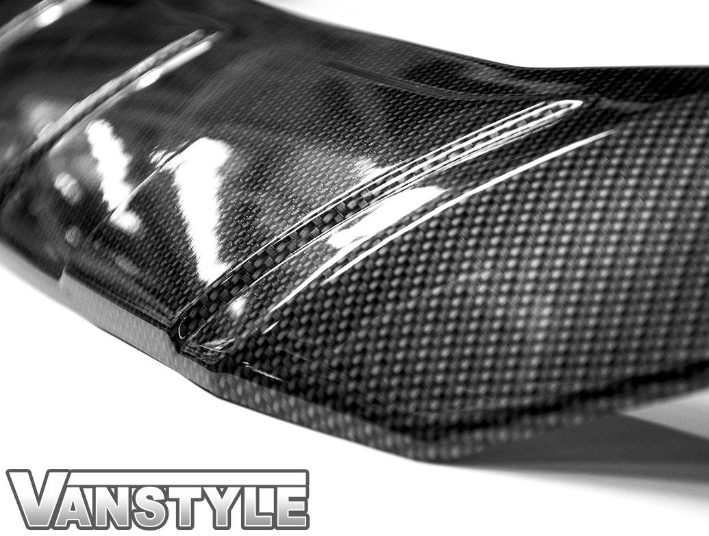 Carbon Effect ABS Ridged Bonnet Protector - Custom 2012-17