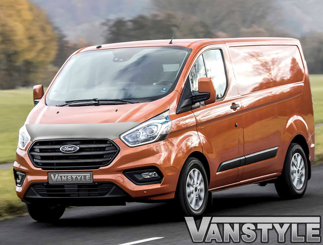 Silver ABS Bonnet Protector - Ford Transit Custom 2018>