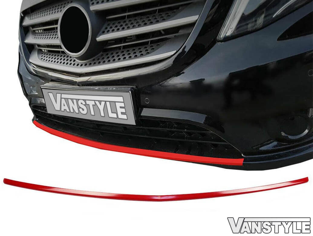 Red Front Bumper Streamer Diffuser Trim - Vito 14>