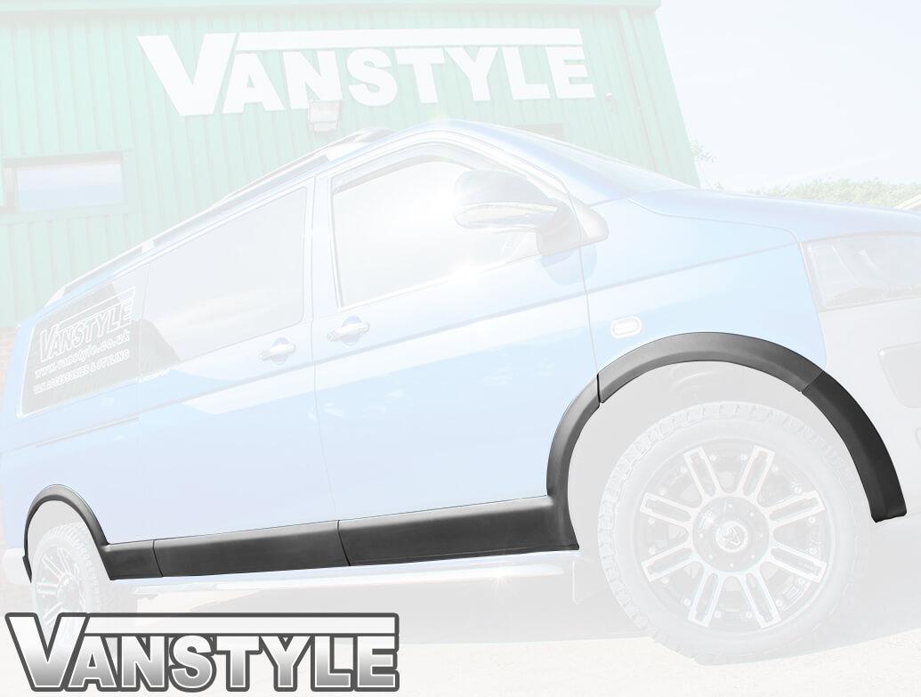 Wheel Arch & Side Body Mouldings Black - VW T6 2015>