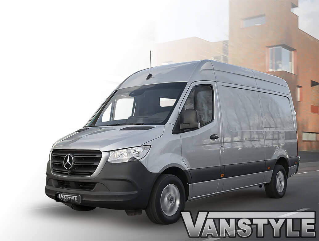 Climair Front Smoked Wind Deflectors - Mercedes Sprinter 2018>
