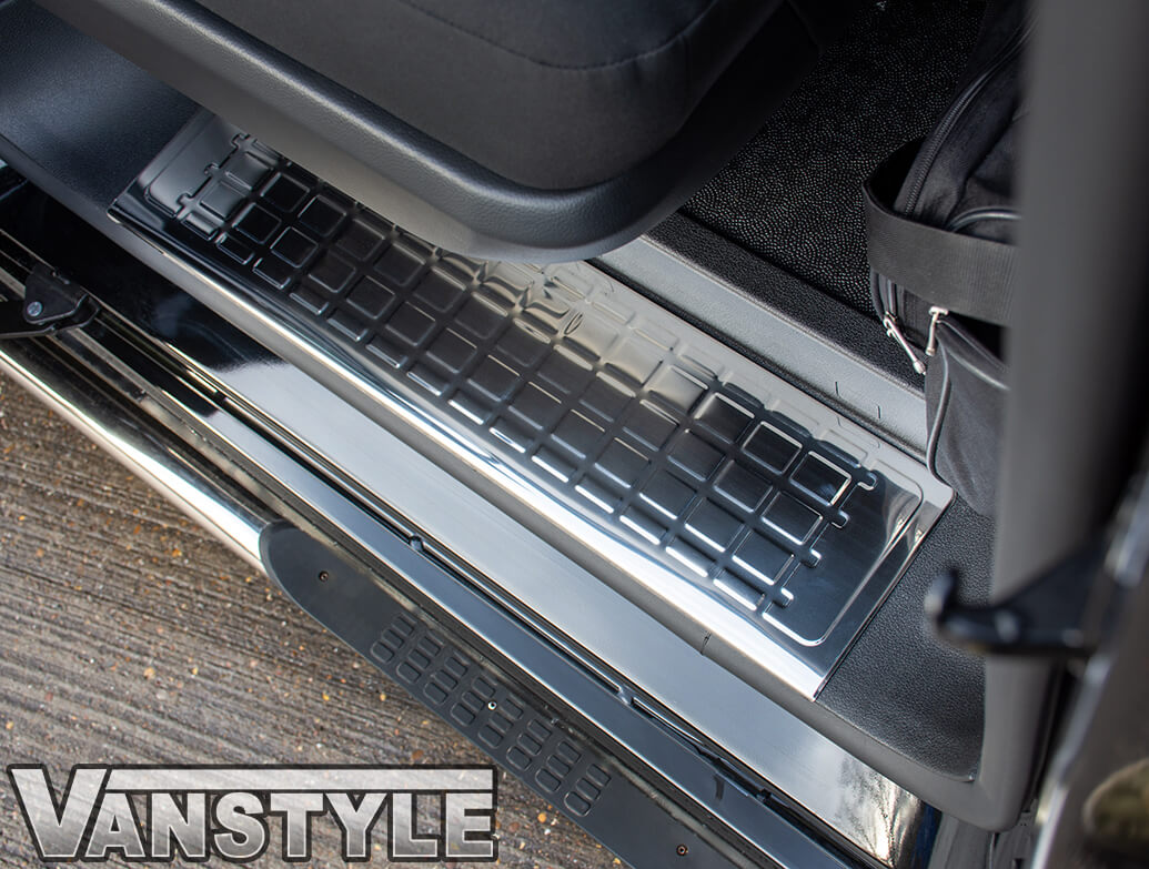 Polished Stainless Steel 4-Piece Door Sill Covers