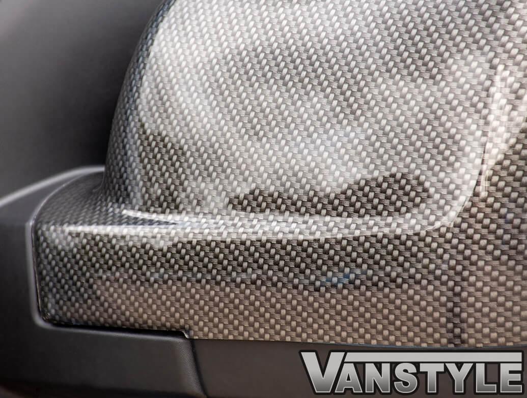 Carbon Effect ABS Mirror Covers - Vivaro Trafic NV300 Talento