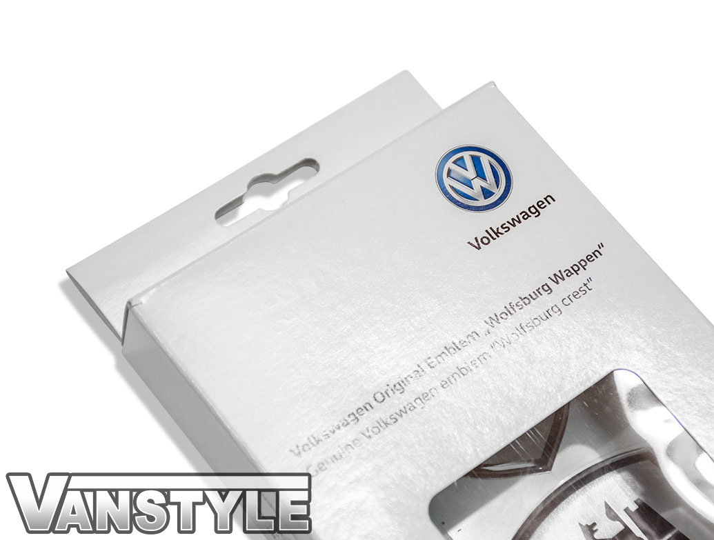 Genuine VW Wolfsburg Crest Decal Gel Sticker Badge x 2