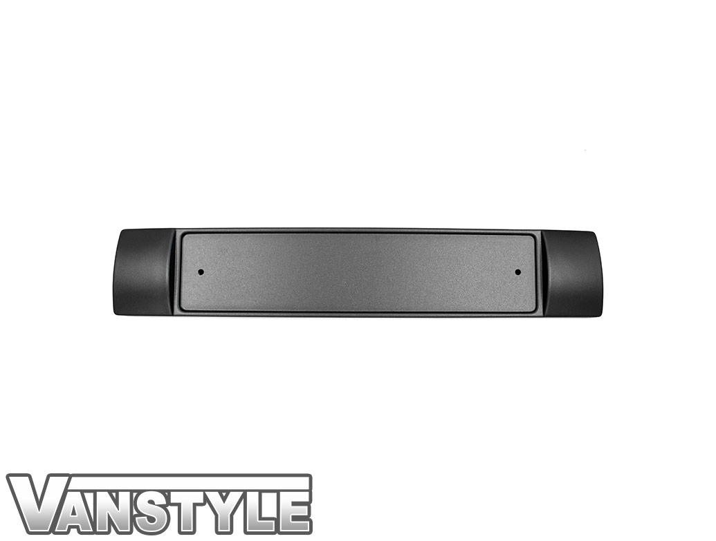 Front Bumper Number Plate Plinth in Textured Black - VW T6 2015>