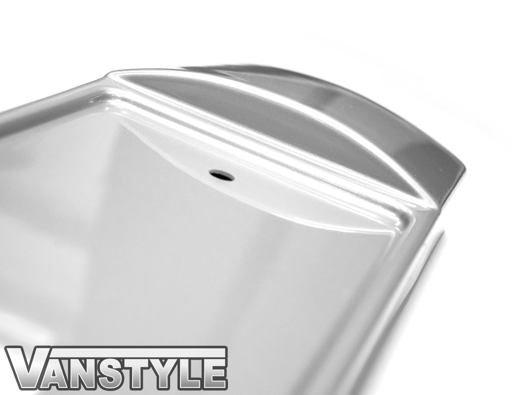 Front Bumper Number Plate Plinth in Satin Silver - VW T6 2015>
