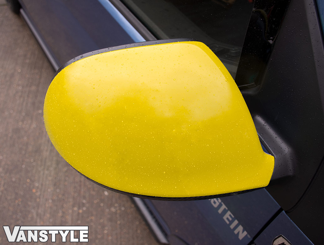 Gloss Yellow ABS Side Wing Mirror Cover Pair - VW T5 T6 & Amarok