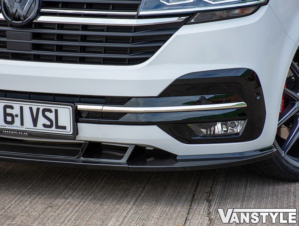 Polished Stainless Steel Front Bumper Streamer - VW T6.1 19>