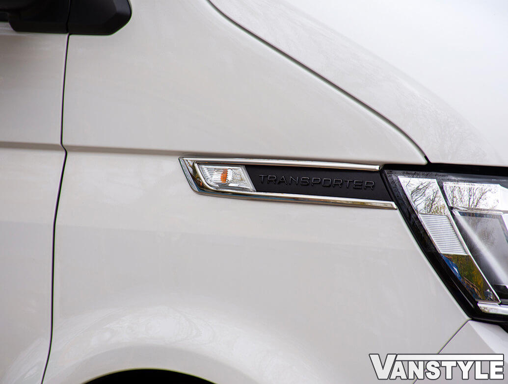 Polished Stainless Steel Side Indicator Rim Trims - VW T6.1 19>