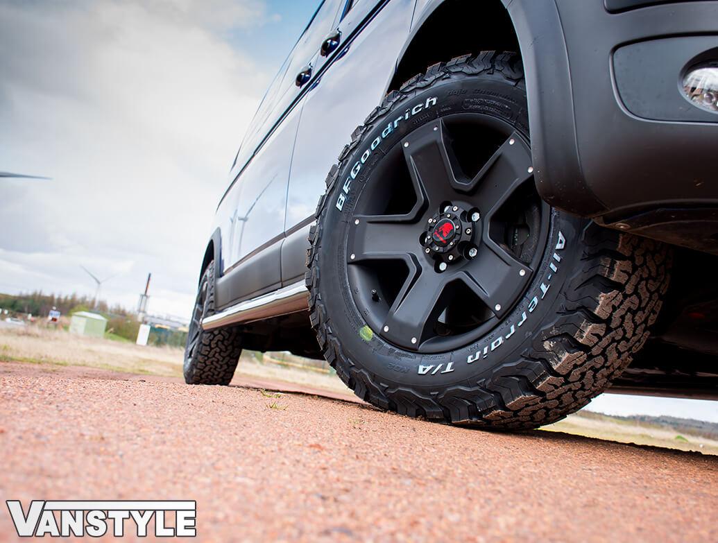 """Tomahawk Outlaw Dead Matte Black 8J 17\"""" Alloy Wheels - VW T5 T6"""