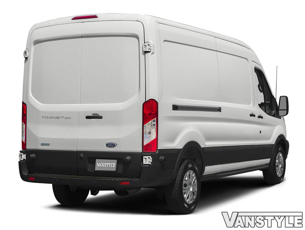 Black 3D Aluminium Rear Bumper Protector - Ford Transit 14>