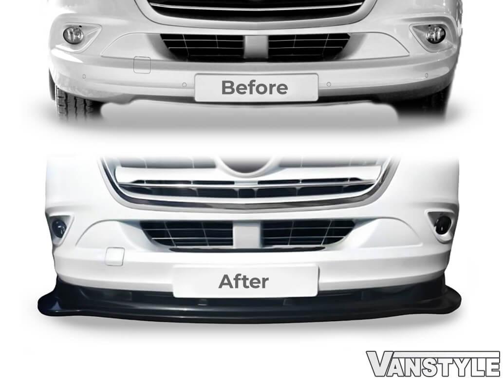 Gloss Black Front Lower Splitter - Mercedes Sprinter 18>