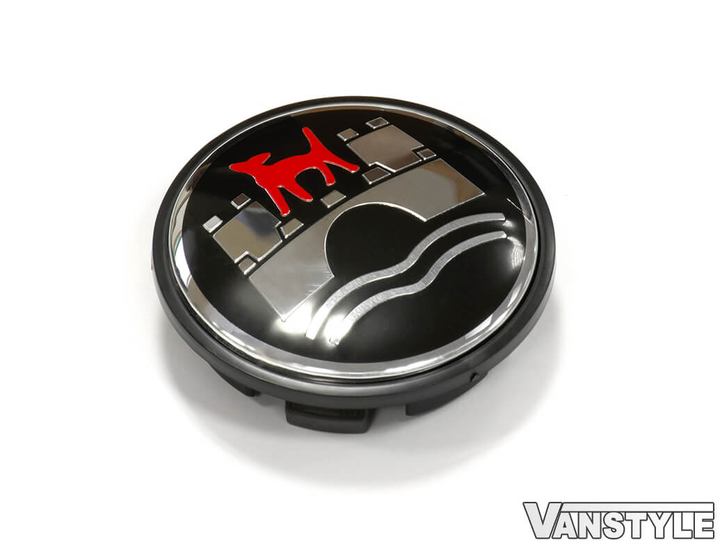 Wolfsburg Style 65mm Alloy Wheel Centre Caps Set of 4