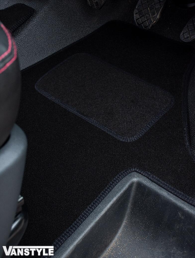 Black Fabric RHD Front Cab Carpet Mats - Quality - VW T6.1 2019>